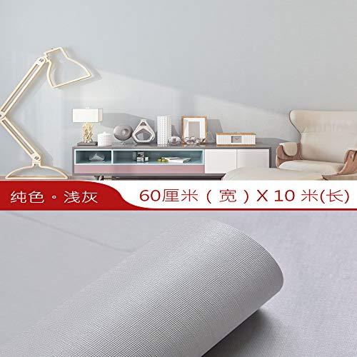 lsaiyy wasserdichte tapete Selbstklebende Schlafzimmer warme tapete Wohnzimmer 3D einfarbig wandaufkleber tapete- 60cmx10m