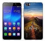 Fubaoda Honor 6 Hülle Case, [Spitzenweg] Huawei Honor 6 Case silikon Hülle Premium Durchsichtig Handyhülle Backcover Durchsichtig hülle Case Schutzhüllen TPU Case für Honor 6