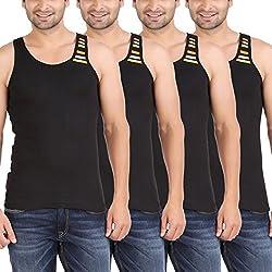 Zippy Mens Swift Sleeveless Black Vest (Pack of 4)