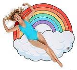BigMouth Inc Coperta gigante della spiaggia dell'arcobaleno