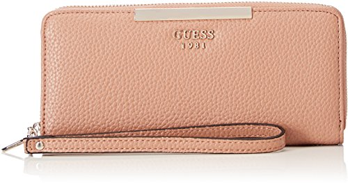 Guess Damen Slg Wallet Geldbörse, Braun (Tan), 2x10x21 centimeters (Brieftasche Braun Guess)