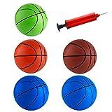 FEPITO 5 Pcs 16cm Mini Basketball Inflation Mini Ball Jouets avec Pompe et Aiguilles...