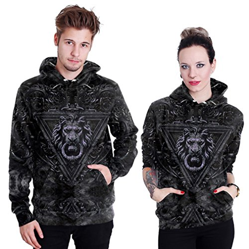 Belsen Damen Kapuzenpullover mehrfarbig Lightning cat L Lion knocker