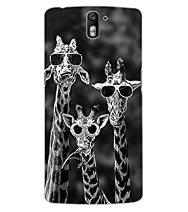 ColourCraft Funny Animal Design Back Case Cover for OnePlus One