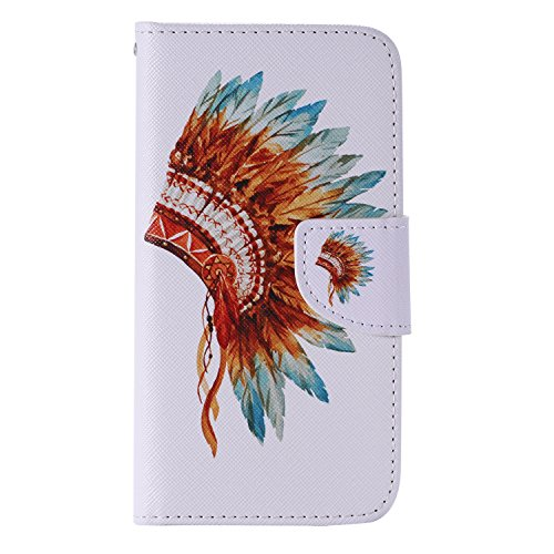 Nancen Compatible with Handyhülle Galaxy S7 / SM-G9300 (5,1 Zoll) Handy Lederhülle, Flip Case Wallet Cover with Stand Function, Folio Bookstyle Handytasche