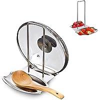 LOMISPI Repose Cuillère Cuisine Acier Épaisseur INOX Support Pose Cuillere Porte Couvert Cuisine Couvercle Fourchette…