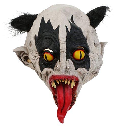 ke aus Latex für Halloween Kostüm - Fledermaus (Blutige Fledermaus Maske Für Erwachsene)