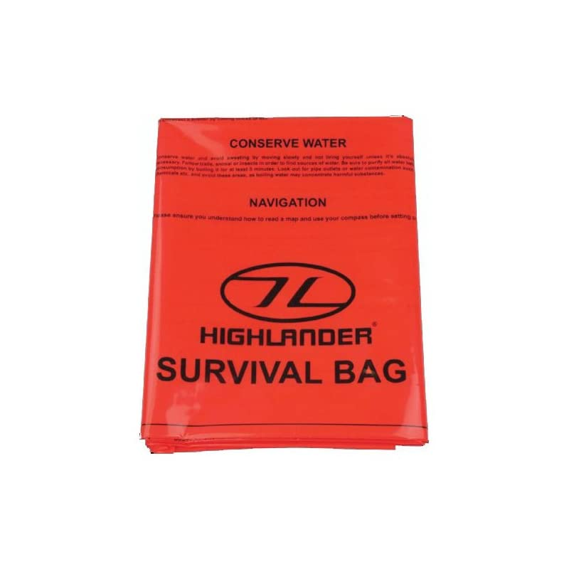 Highlander Emergency Single Orange Survival Bag