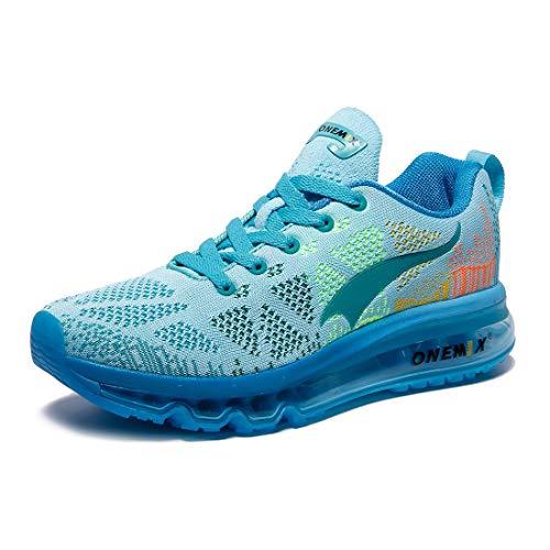 ONEMIX Damen Laufschuhe Air Sportschuhe Sneaker Turnschuhe Running Fitness Straßenlaufschuhe Hellblau