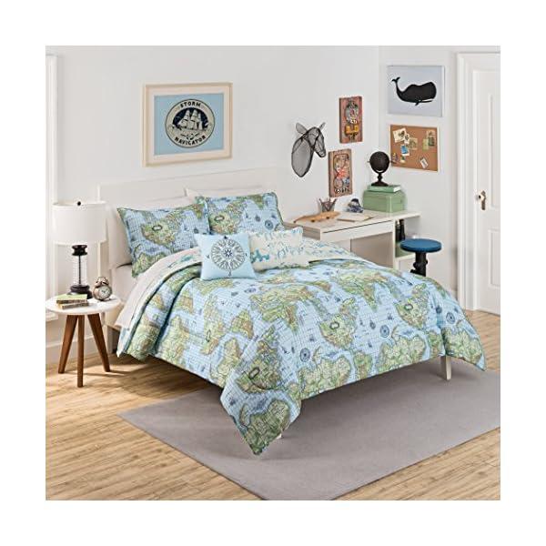 Ropa de cama con mapamundi para soñar con aventuras
