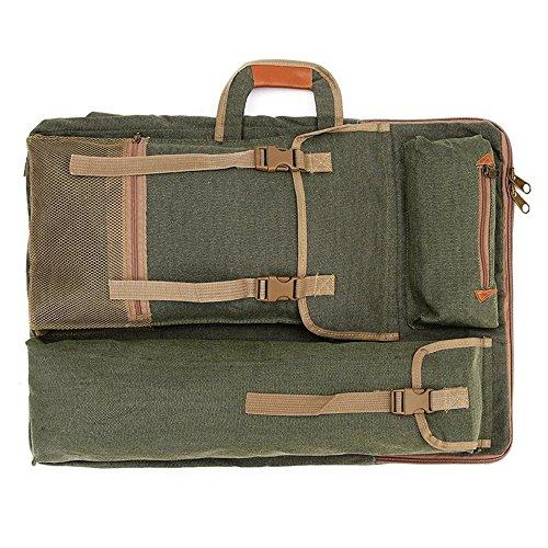 Künstler Portfolio A2 Leinwand Zeichenbrett Bag Writing Board Rucksack für AEG Zeichnen Skizzieren Malen Art (Armeegrün)