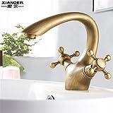 GQLB Kupfer heißen und kalten Wasserhahn höhe Waschbecken Waschbecken Wasserhahn nach oben und unten Becken Badezimmerschrank