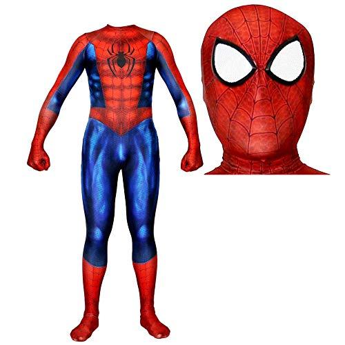 RNGNBKLS Klassische Erwachsene Kind Muskel Spiderman Kostüm Halloween Cosplay Geburtstag Party Anzug 3D Digitaldruck Spandex Verkleidun,Style2-M (Halloween-kostüme Klassische Erwachsene Für)