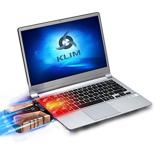 KLIM Cool + Refroidisseur PC portable en métal - Le plus puissant - Extracteur d'air USB pour...