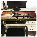 Pferd tier spiel mauspad schloss wasserdicht gummi mauspad tastatur pad 900 * 400 * 3mm