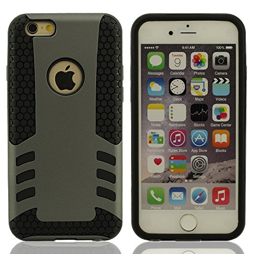 """Dur iPhone 6S Plus Case & iPhone 6 Plus Coque de Protection, Fort Armure Double couche Design iPhone 6S Plus (5.5 Pouce) Housse étui pour, (IPhone 6 Plus 4.7 """"pas compatible) - Rose Gris"""