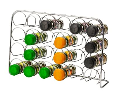 Hahn Pisa 24 Jar Spice Rack, Chrome by Hahn