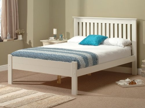 Snuggle Beds Alder Solid Slatted Wood Painted White 5FT King Size Bed Frame