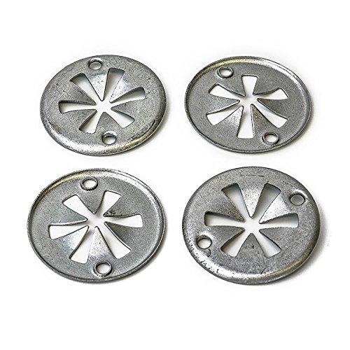 LIOOBO 20 stücke Metall Klemmplatte Abdeckung Montage Clips für Audi Ford Sitz Skoda VW N90335004 20 Montage-clips