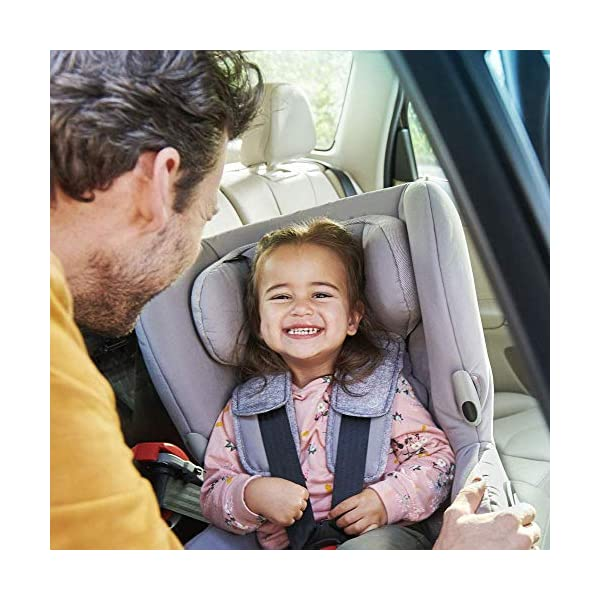 Maxi-Cosi Axiss Swiveling Toddler Car Seat, Extra Secure Fit, Reclining, 9 Months-4 Years, 9-18 kg, Triangle Black Maxi-Cosi Toddler car seat, suitable from 9 months to 4 years (9-18 kg) Swivels 90 degrees allows for front-on access to get your toddler in and out of the car more easily Maxi-Cosi Axiss car seat has eight comfortable recline positions 7