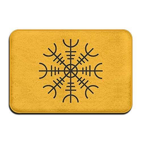 Helm of Awe Vikings Powerful Symbol Doormat Welcome Mat ()
