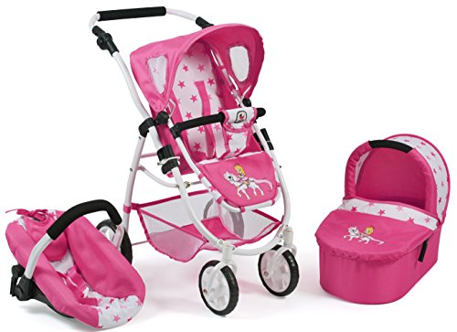 Bayer Chic 2000 637 89 Carrito de muñecas Emotion 3 en 1 All in, Pony & Princess