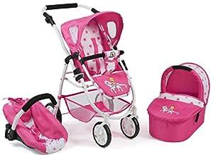Bayer Chic 200063789Carrito de muñecas Emotion 3en 1All in, Pony & Princess