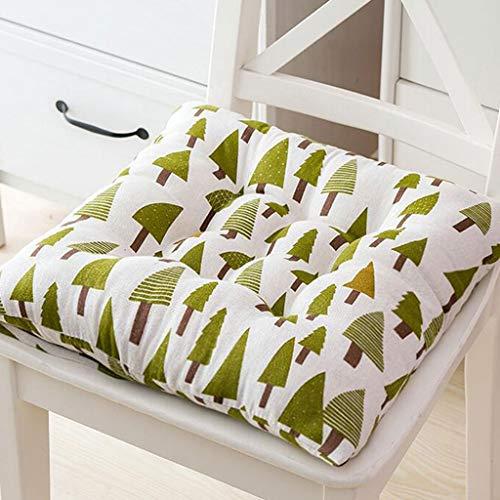 Küche Esszimmer Stuhlpolster Kissen mit Bindungen Patio Stuhl Sitzkissen Set von 1 (Color : C, Size : 40cm×40cm) -