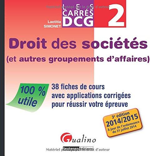 Carrés DCG 2 - Droit des sociétés (et...