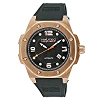 No limit Nautec Herren-reloj analógico caucho acicalado automáticolink SOIAODASH@DASHAORBRGRG-BK de Nautec No Limit