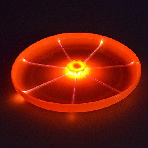 ED Taschenlampe Magic Fliegende Untertasse UFO Neuheit Flying Festplatten Werfen Toys Schwebe Frisbee für Hunde (Mini-strand Bälle In Bulk)