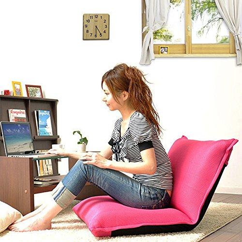 Sofa paresseux créatif pliant balcon chambre ordinateur chaise vert/orange / blanc/rose rouge (Couleur : Rose rouge)