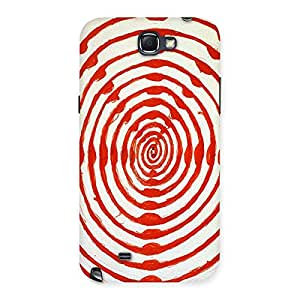 Oval Red Design Back Case Cover for Galaxy Note 2