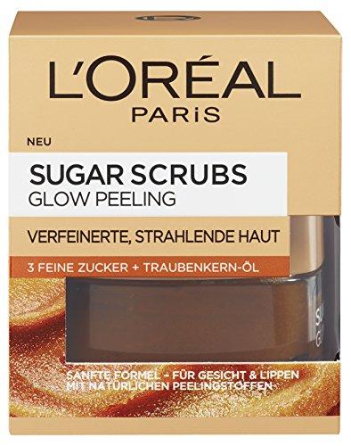 Scrubs Glow Gesichtspeeling, mit Zucker und Traubenkern-Öl, für eine glatte und strahlende Haut, 50 ml ()