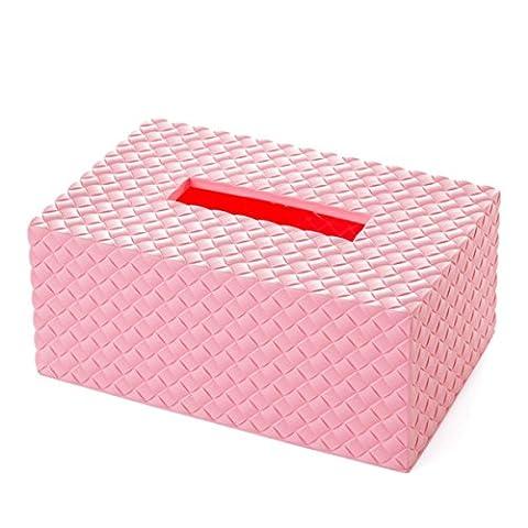 Butterme Rectangular Rattan Design Plastic Facial Tissue Box Cover Holder