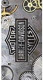 Managal Harley 12183Harley Gears–Strandtuch Baumwolle grau 75x 150x 1cm