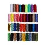 Hilos de coser, sicai 39rollos adhesivos surtidos Caja de hilo de coser de poliéster de Kit Set...