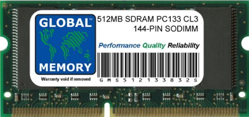 512MB PC133 133MHz 144-PIN SDRAM SODIMM ARBEITSSPEICHER RAM FÜR CLAMSHELL/SNOW IBOOK G3 & POWERBOOK G3/G4 (Ibook Clamshell)
