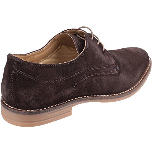 Base London Mens Bayham Suede Leather Casual Lace Up Derby Shoes Brown