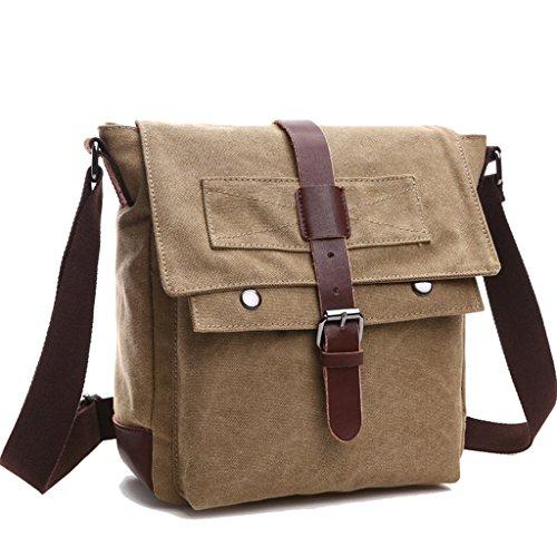 Super Modern Vintage Messenger Bag Military Canvas Tasche Freizeit Reisen Tasche Umhängetasche Schultertasche Khaki