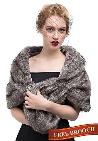 BEAUTELICATE - Poncho - Femme gris gris taille unique