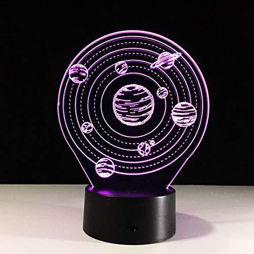 Universum Ein Planet 3D-Lampe Kreative Kleine Schreibtischlampe Das Sonnensystem Nachtlicht USB 7 Farbwechsellicht Als Geschenk für Kinder