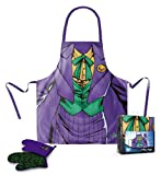SD toys Joker Delantal y Manopla Pack Transparente DC Comics, Algodón-Poliéster, Lila/Verde, 3x3x3 cm