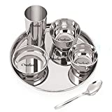 Neelam Stainless Steel Dinner Set, 24-Pieces, Silver