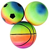 #3: Day Mini Sports Toy Ball Set for Toddlers, Playground Bouncing Balls for Kids Outdoor Indoor Family Games/ Beach Balls (Pack of 3)( Birthday Return Gift for Kids)
