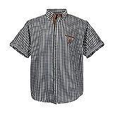 Modisches Sommer kurz Arm Hemd in Schwarz - weiß kariert in den Größen: 3XL - 7XL (5XL)