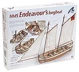 Artesania Maqueta de barco en madera: Lancha del Capitán del HMS Endeavour