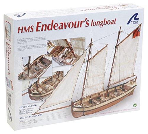 Maqueta de barco en madera: Lancha del Capitán del HMS Endeavour
