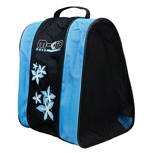 Basong Schlittschuhtasche Kinder Damen Tasche für Schlittschuhe Skateschuhe Rollschuhe (blau)