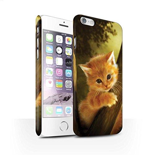 Officiel Elena Dudina Coque / Clipser Matte Etui pour Apple iPhone 6S / Trois dans la Nuit Design / Les Animaux Collection Le Brave/Chaton
